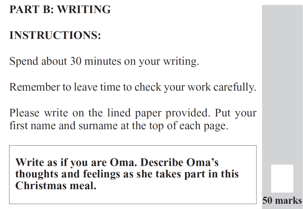 Group 2 2012 English Paper Creative Writing - Question 01