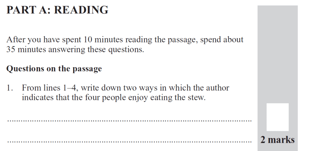Group 2 2012 English Paper - Question 01