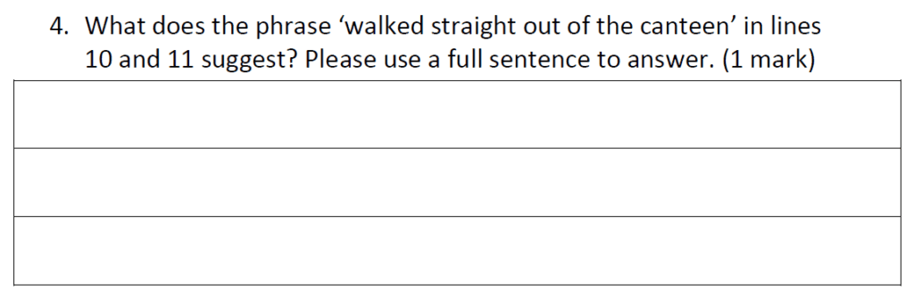 Reigate Grammar School 11 Plus English Entrance Exam 2019 - Question 04