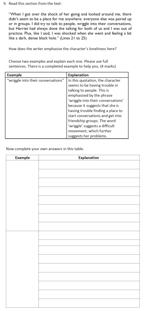 Reigate Grammar School 11 Plus English Entrance Exam 2019 - Question 09