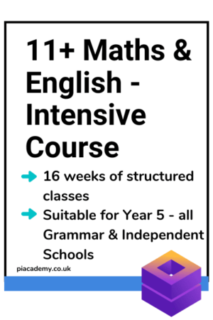 11 Plus Maths and English - Intensive Course