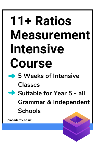 11+ Ratios Measurement and Sequences Intensive Course