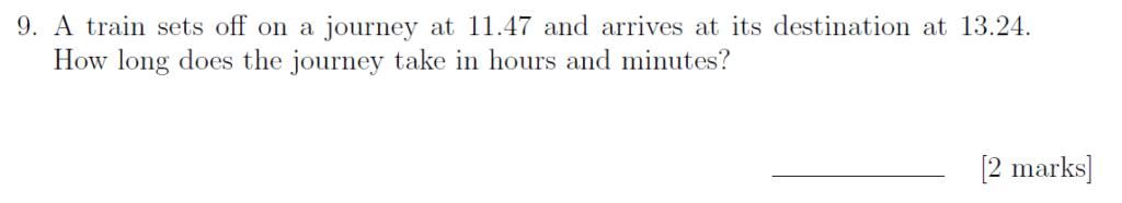 Sevenoaks School - Year 9 Maths Sample Paper 2019 Question 12