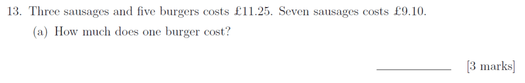 Sevenoaks School - Year 9 Maths Sample Paper 2019 Question 19