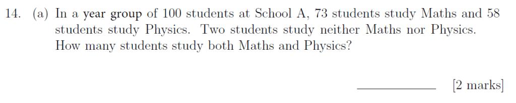 Sevenoaks School - Year 9 Maths Sample Paper 2019 Question 21