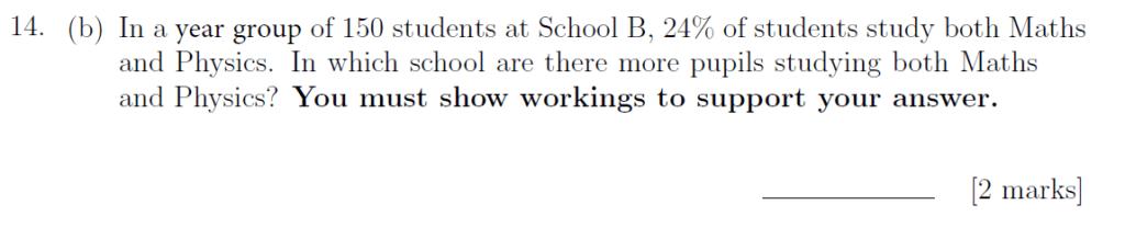 Sevenoaks School - Year 9 Maths Sample Paper 2019 Question 22