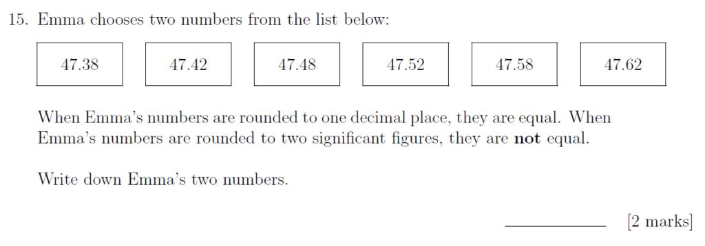 Sevenoaks School - Year 9 Maths Sample Paper 2019 Question 23