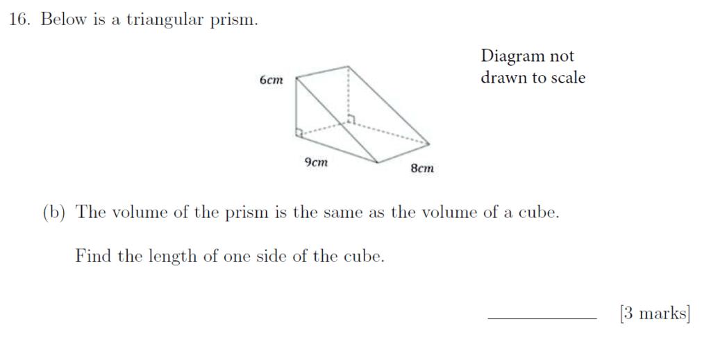 Sevenoaks School - Year 9 Maths Sample Paper 2019 Question 25