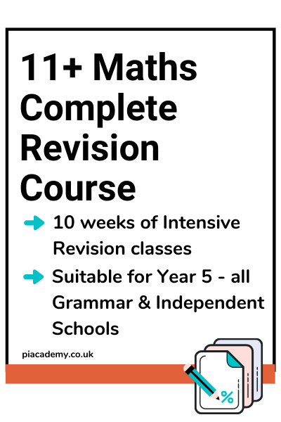 11+ Maths Complete Revision Course