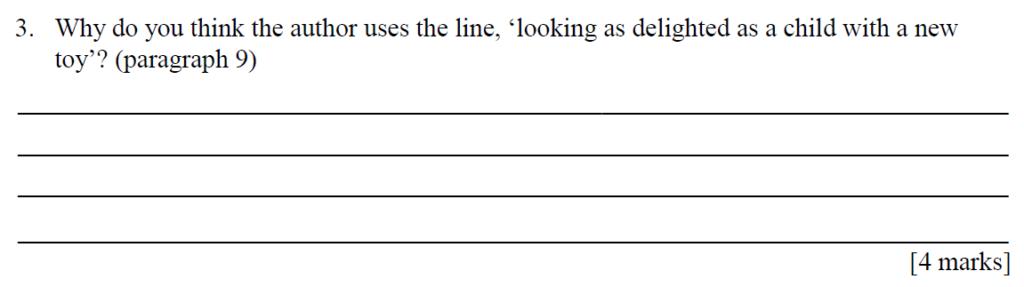 City Of London Freemen School 11 Plus English Sample Paper 2014 - Question 03
