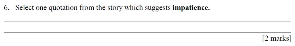 City of London Freemen School 11 Plus English Sample Paper 2014 - Question 06