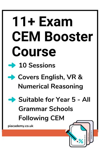 11 Plus Exam CEM Booster Course