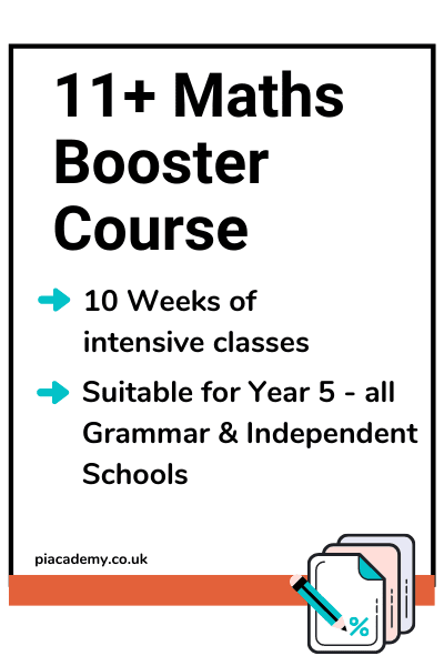 11 Plus Exam Maths Booster Course