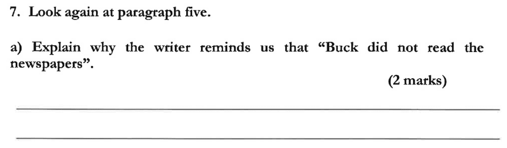 Dulwich College 11 Plus English Specimen Paper C - Question 08