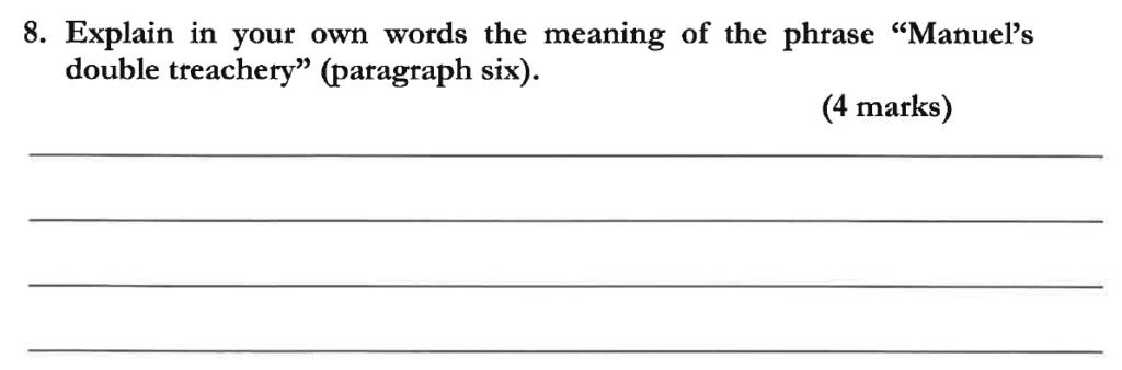 Dulwich College 11 Plus English Specimen Paper C - Question 10