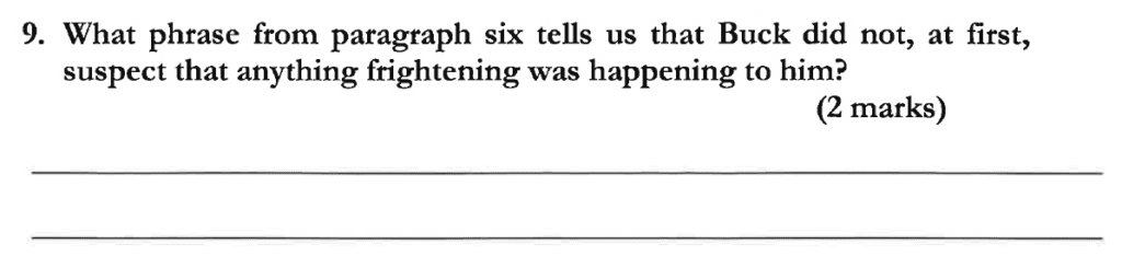 Dulwich College 11 Plus English Specimen Paper C - Question 11