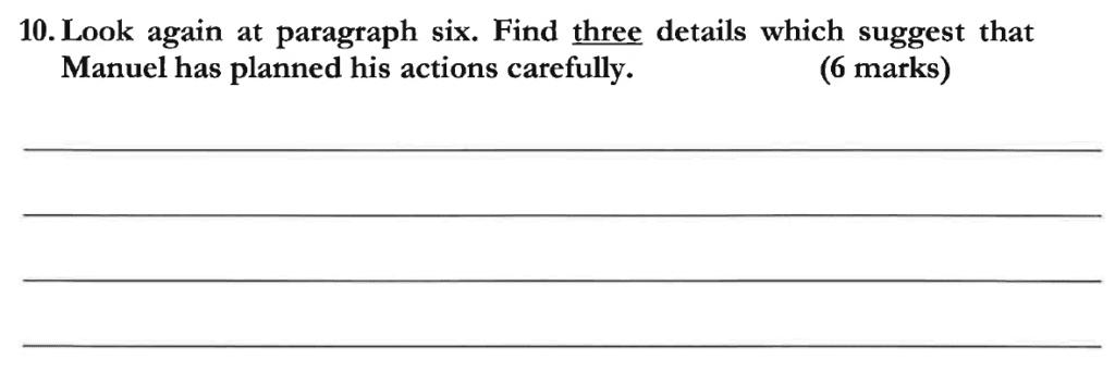 Dulwich College 11 Plus English Specimen Paper C - Question 12