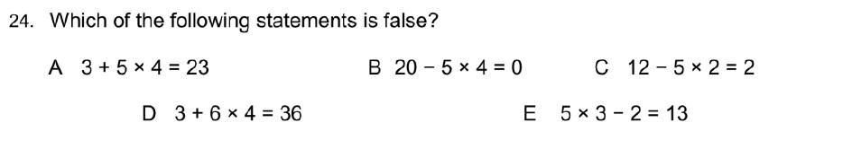 Oundle School Entrance Exam 2015 - Question 39