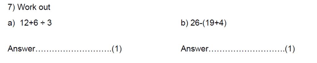Question 12 - Kent College 11 Plus Maths Entrance Examination 2015