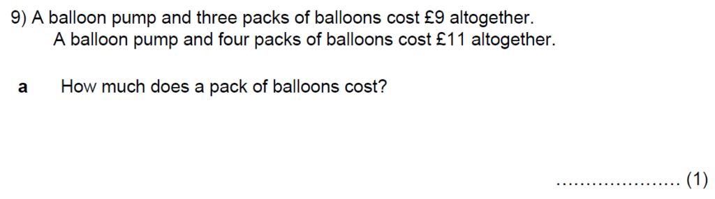 Question 14 - Kent College 11 Plus Maths Entrance Examination 2015