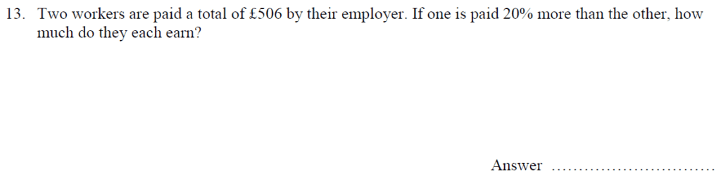 Question 21 - Oundle School 11 Plus 2016 Junior Entrance Examination