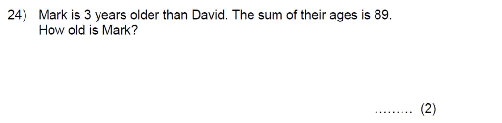 Question 35 - Kent College 11 Plus Maths Entrance Examination 2015