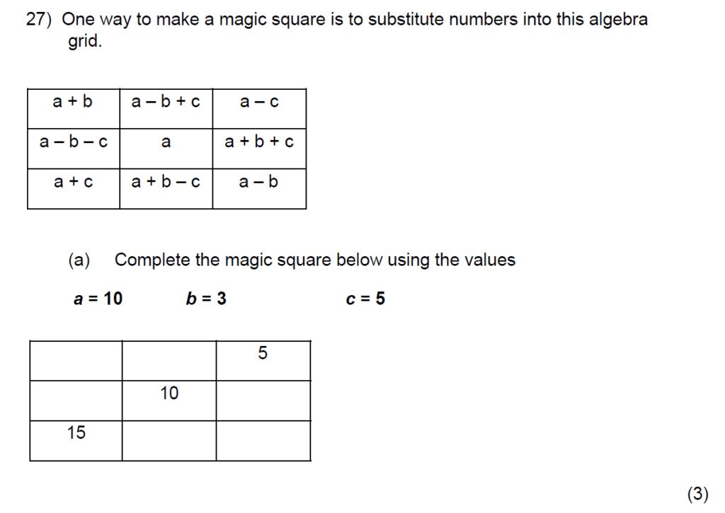 Question 38 - Kent College 11 Plus Maths Entrance Examination 2015