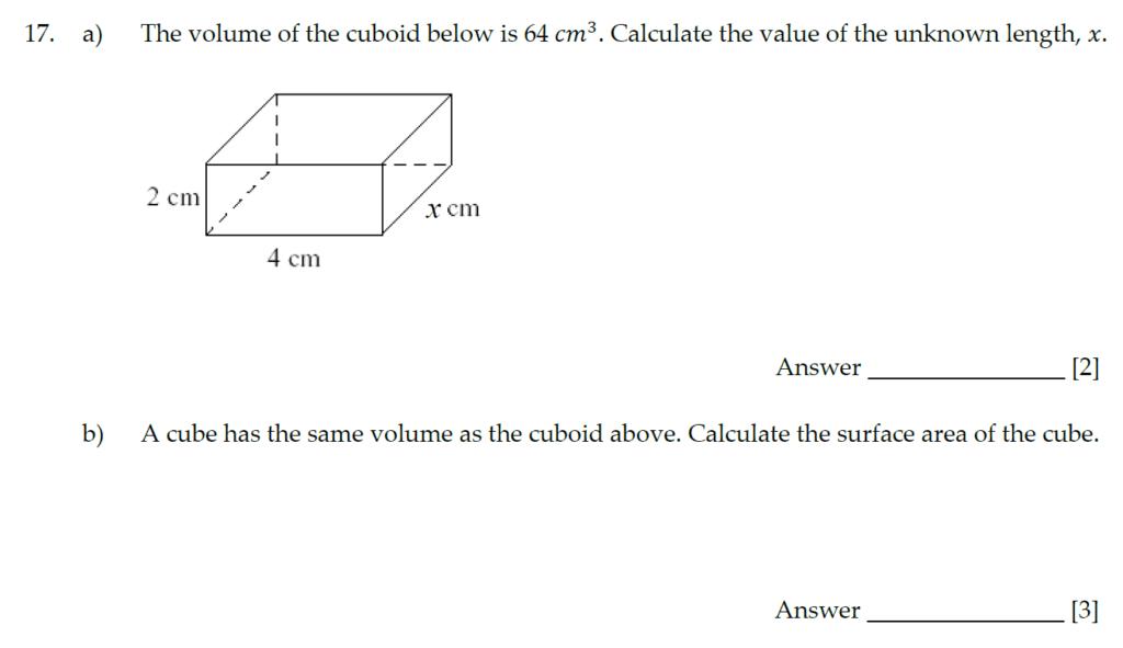 Sevenoaks School Year 7 Entrance Exam 2020 - Question 17